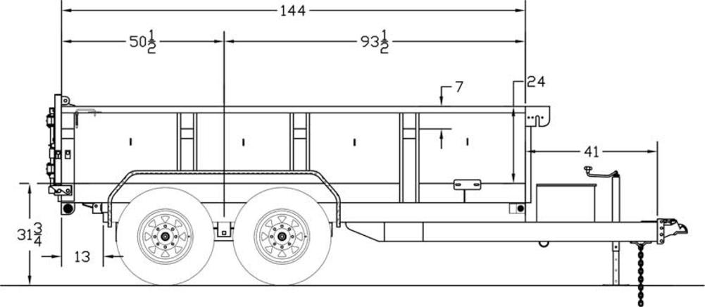 big tex 12lx standard duty tandem axle extra wide dump