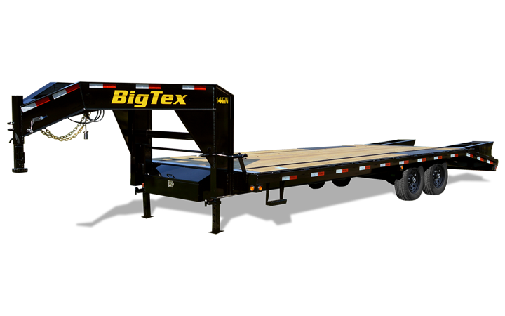 Single Wheel Tandem Axle Gooseneck Trailer