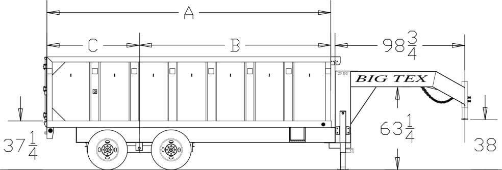 big tex trailers 14gx heavy duty tandem axle extra wide