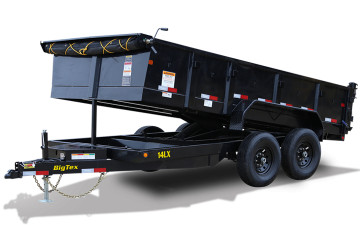 "Big Tex 14LX 14K TAND DUMP 83""x12 7SIR, SPMT, TARP KIT, BLACK"