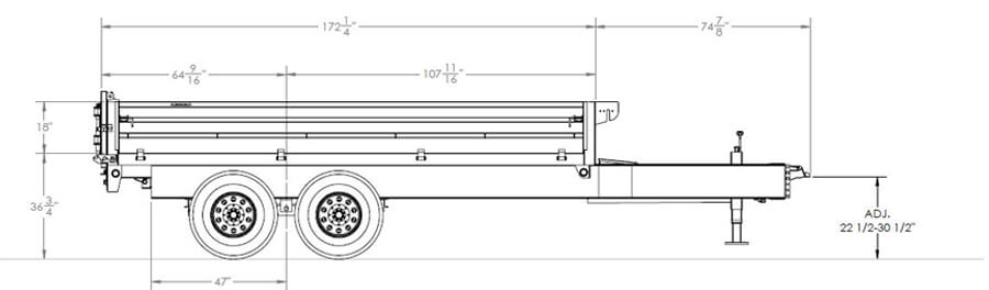 Over-The-Axle Gooseneck Dump Trailer