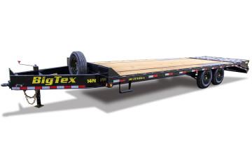 "Big Tex 14PH 102"" x 20 + 5 Single Wheel Tandem Axle Pintle"