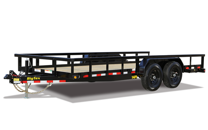 Heavy Duty Tandem Axle Pipe Top Utility Trailer