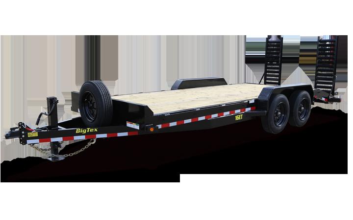 "Big Tex 16ET 83"" x 17 + 3 (17 Deck w/ 3 Cleated Dovtail) Equipment Trailer"