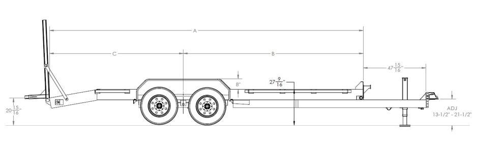 Super Duty Tandem Axle Equipment Trailer