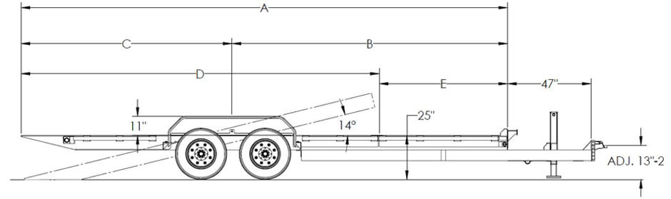 Super Duty Tilt Bed Equipment Trailer