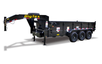 "Big Tex 21GX 83"" x 16 Triple Axle Extra Wide Gooseneck Dump"