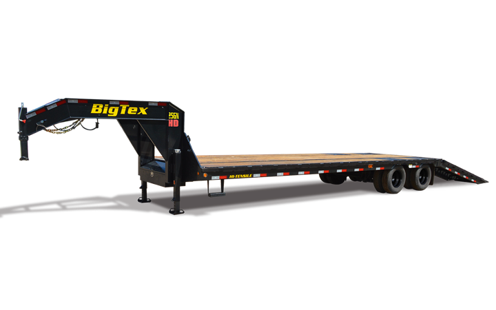 Heavy Duty Tandem Dual Wheel GN Hydraulic Dovetail Trailer