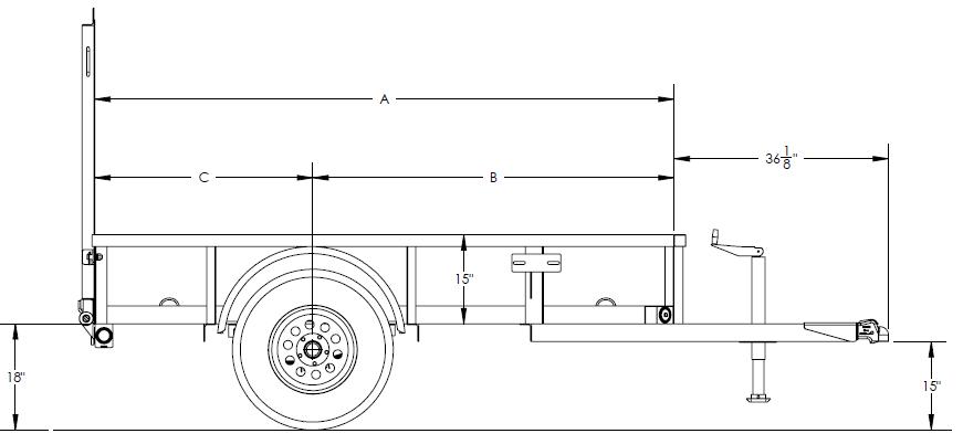 Single Axle Utility Trailer