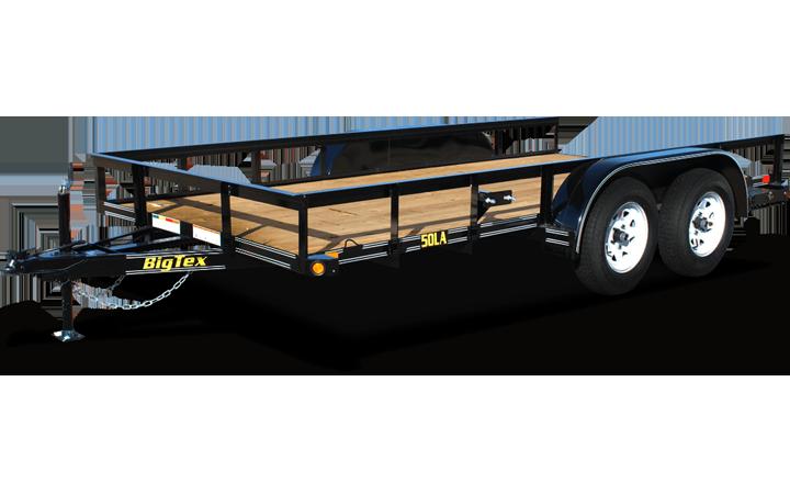 "50LA-77"" x 12 Tandem Axle Angle Iron Utility Trailer"