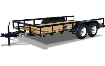"77"" x 16 Tandem Axle Angle Iron Utility Trailer"