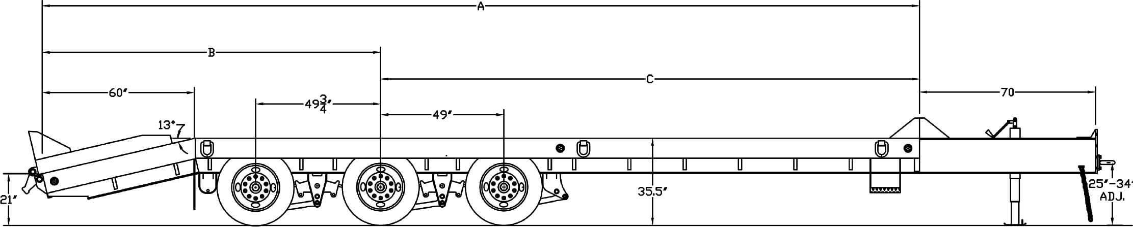 Pintle Heavy Equipment Transport Trailer