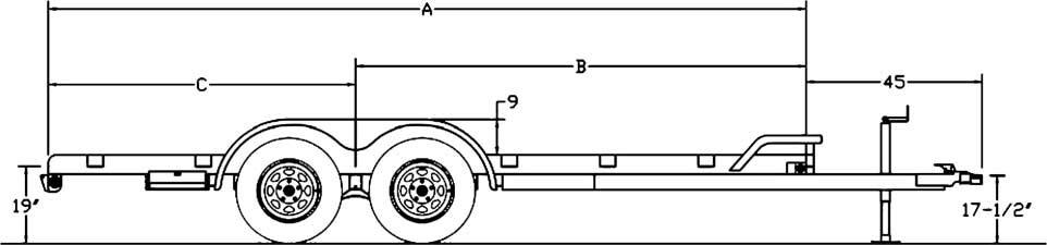 big tex trailers 70ch tandem axle car hauler