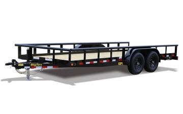 "Big Tex 10PI 83"" x 18 Pro Series Tandem Axle Pipe Top Utility Trailer"