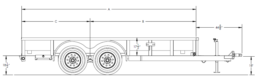 Pro Series Tandem Axle Pipe Top Utility Trailer