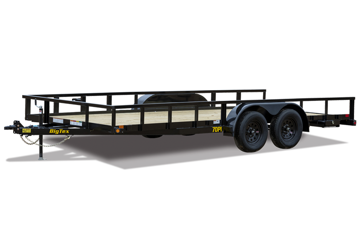"Big Tex 70PI-X 83"" x 14 Tandem Axle Pipe Top Utility Trailer"