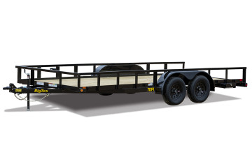 "Big Tex 70PI-X 83"" x 18 Tandem Axle Pipe Top Utility Trailer"