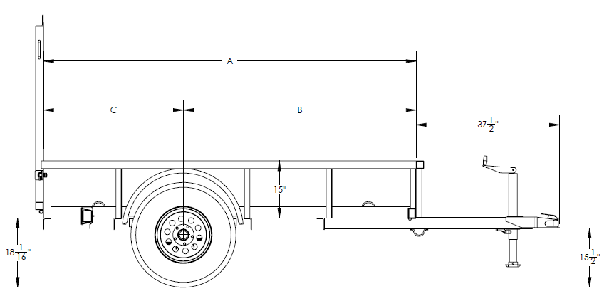 Economy Single Axle Utility Trailer
