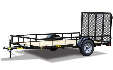 "Big Tex 35ES 77"" x 14 Economy Single Axle Utility Trailer"