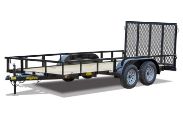 "Big Tex 45ES 77"" x 12 Single Axle Utility Trailer"