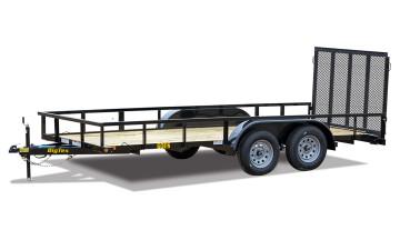 "Big Tex 60ES 77"" x 16 Tandem Axle Utility Trailer"