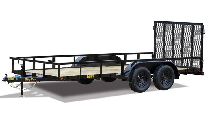 Tandem Axle Pipe Top Utility Trailer