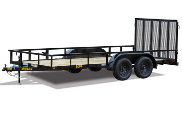 "Big Tex 60PI 77"" x 16 Tandem Axle Pipe Top Utility Trailer"