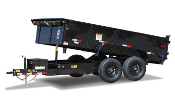 Big Tex 10SR 9,990#,TA,SR DUMP,(83 x 12) BLACK,7 SLIDE IN RAMPS