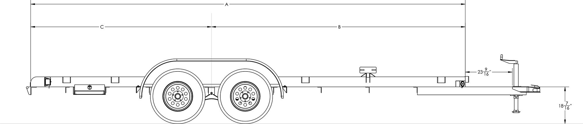Economy Tandem Axle Car Hauler
