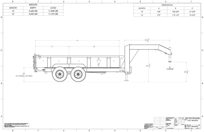 Super Duty Tandem Axle Gooseneck Dump