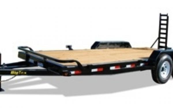 14ET 14K EQUIPMENT TRAILER 83 X 20 WITH  STAND UP RAMPS