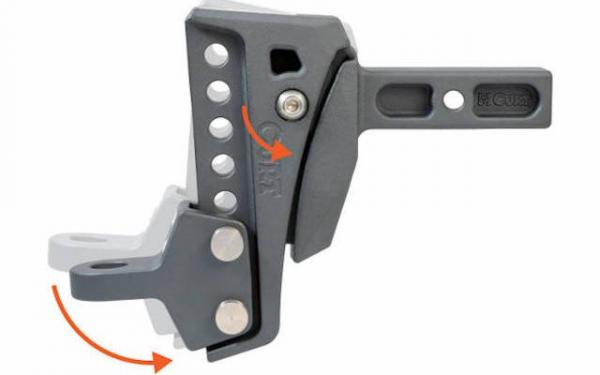 "Rebellion XD CURT HITCH 6-1/4"" Drop, 15000lbs, 6 Adjustable Positions"