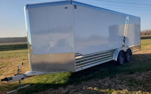 """2022 LEGEND DELUXE V-NOSE 8'X23' ENCLOSED TRAILER W/ +12"""" HEIGHT, (2) 5200# AXLE; GVWR 9990#"""