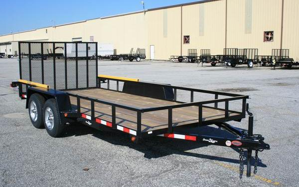 DOWN TO EARTH 7 X 16 TA UTILITY TRAILER BLACK