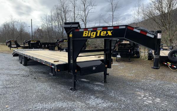 Big Tex 14GN 14,000#,TA,GN,(8 1/2 x 25+5 Black,DT with 2-Megaramps