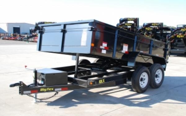 """10LX Big Tex 83""""x12' Tandem Axle Low Profile Dump Trailer"""