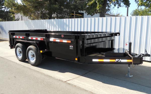 PJ Trailers 7'x16' 14K Low-Pro Dump Trailer