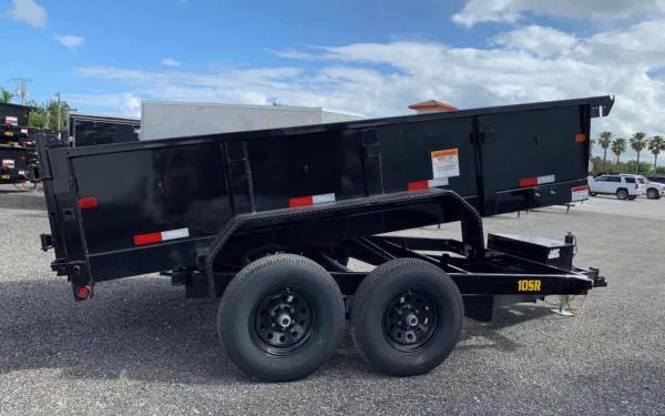 Big Tex 10SR 9,990#,TA,SR DUMP,(83 x 12) Black,7 Slide in Ramps