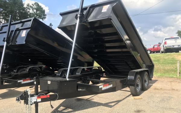 2021 Vision 14k Dump Trailer 7x14- 2' sides OUT OF STOCK
