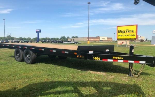 Big Tex 14OA 14000# 8.5X20 DECKOVER EQUIPMENT TRAILER W/SLIDE-IN-RAMPS