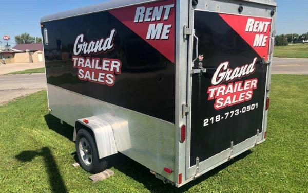 RENTAL 6X12+V ENCLOSED CARGO TRAILER W/RAMP DOOR $50/DAY