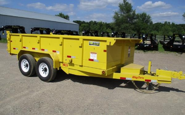 RENTAL 7X14 DUMP TRAILER W/SLIDE-IN-RAMPS 14000 GVWR $90/DAY