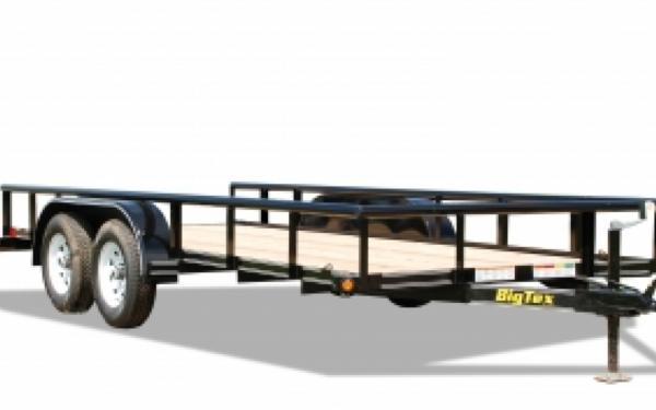 "NEW 2017 Big Tex 45SS-16  6'5"" x 16' Tandem Axle Utility Trailer"