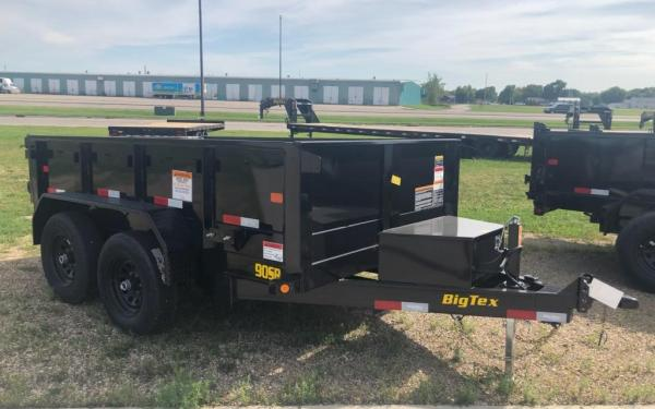 BIG TEX 90SR 6X12 10K DUMP TRAILER W/SLIDE-IN-RAMPS
