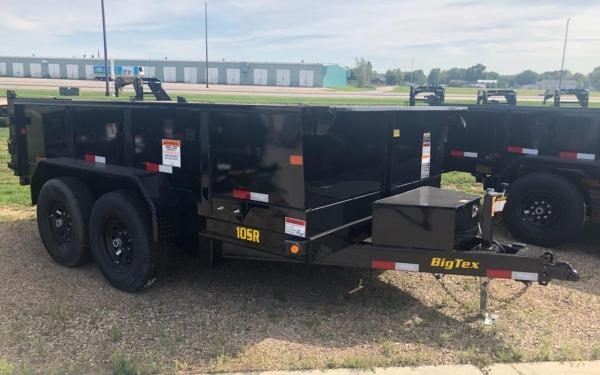 BIG TEX 10SR 7X12 10K DUMP TRAILER W/SLIDE-IN-RAMPS