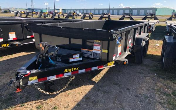 BIG TEX 14LP 7X16 14K DUMP TRAILER W/SLIDE-IN-RAMPS