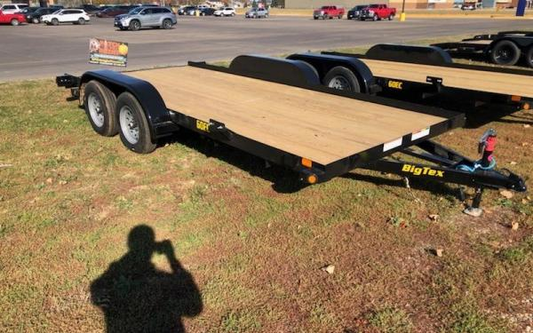 BIG TEX 60EC 7X16 OPEN CAR HAULER W/SLIDE-IN-RAMPS