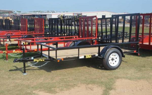 Single Axle Utility Big Tex Trailer