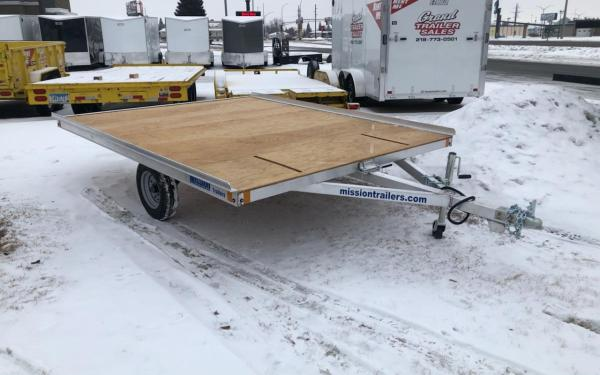 MISSION ALUMINUM 8.5X10 OPEN TILT SNOW TRAILER