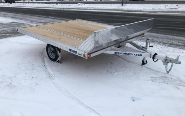 MISSION ALUMINUM 8.5X10 OPEN TILT SNOW TRAILER W/SALT SHIELD